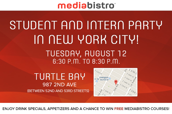 Mediabistro Intern and Student Party