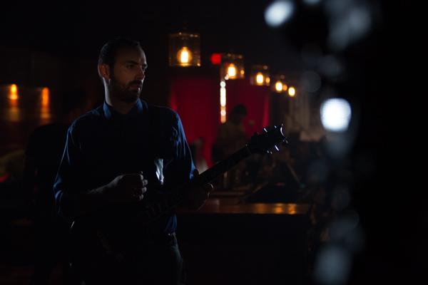 Andrew Karnavas on set