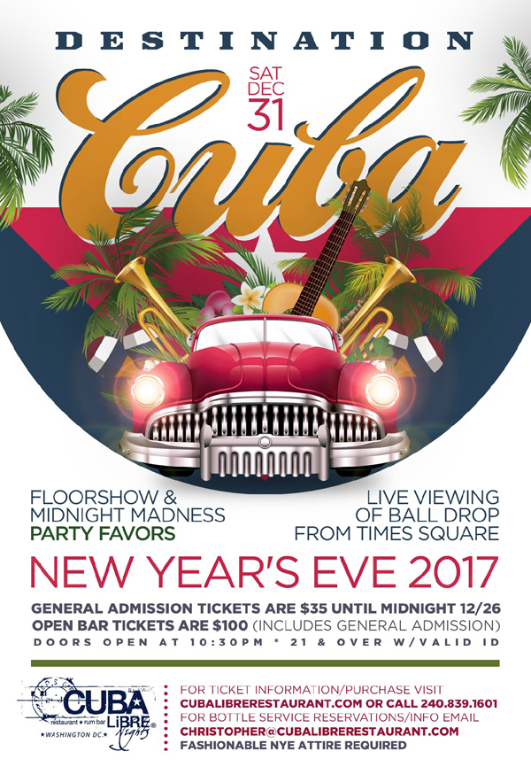 New Year's Eve Promo flyer