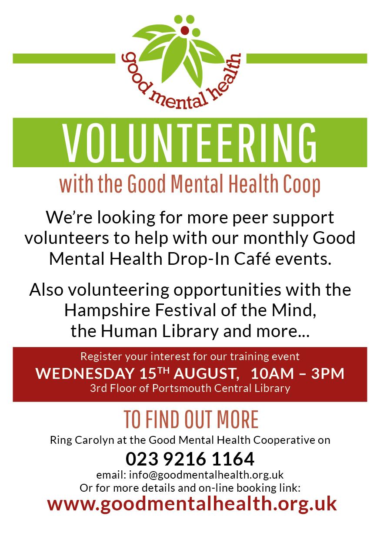 Volunteer training 15 August