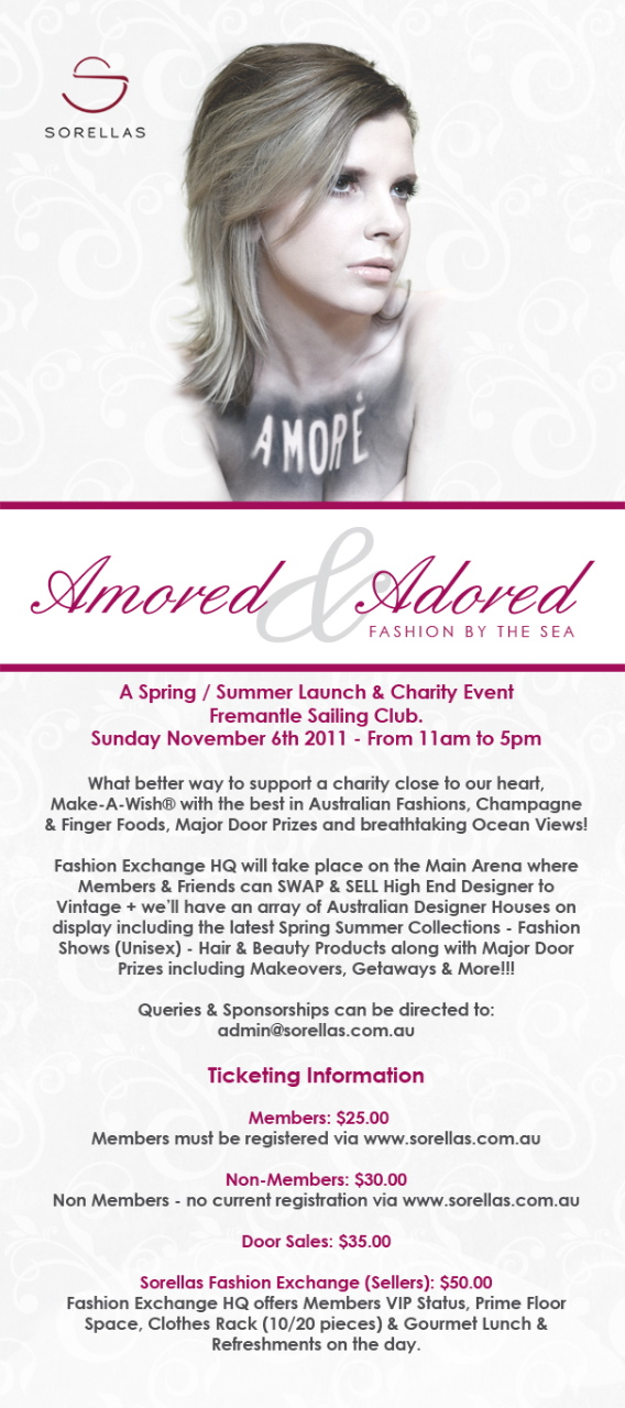 Amored adored fashion by the sea charity event tickets for 151 marine terrace fremantle