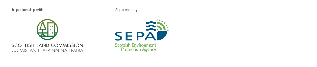 In partnership with Scottish Land Commission, supported by SEPA
