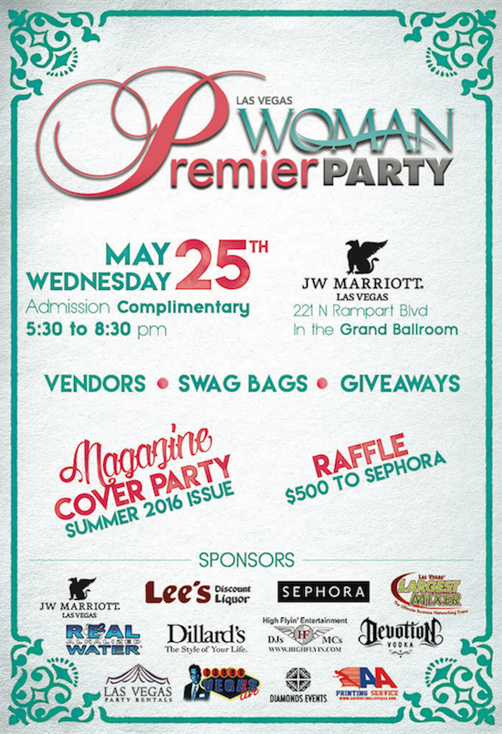 Magazine Cover Party: Las Vegas Woman: May 25th