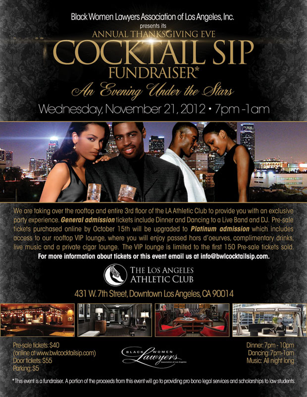 BWL Cocktail Sip 2012 Flyer