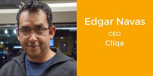Edgar Navas CEO Cliqa