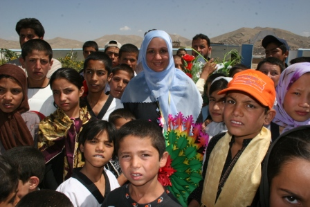 Mahboba with children
