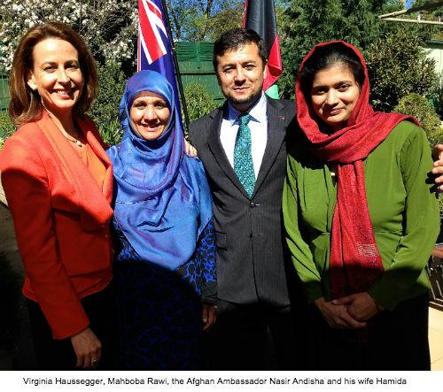 Virginia Haussegger Mahboba Rawi Afghanistan Ambassador Nasir Andisha Hamida Andisha