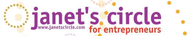Janet's Circle for Entrepreneurs Logo Banner 2011
