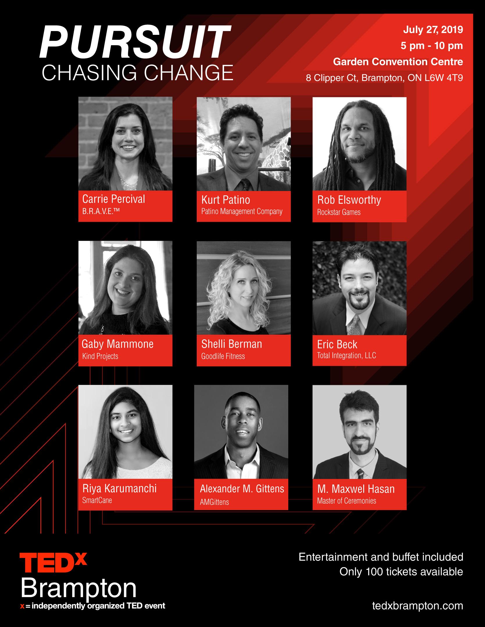 TEDxBrampton 2019 Speakers