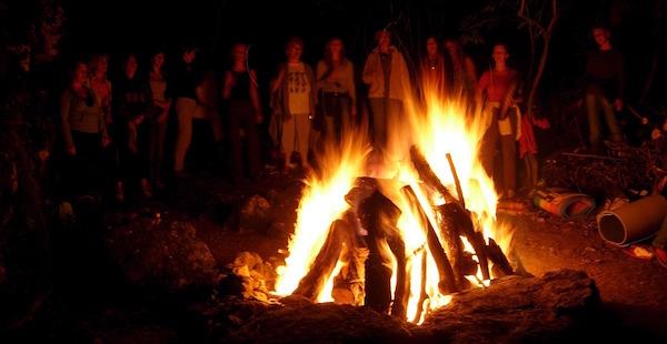 Women around the campfire