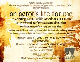 An Actor's Life for Me! Celebrating Asian-Pacific Americans in...