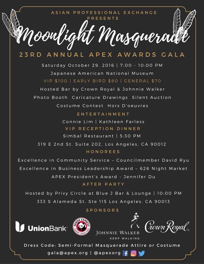 Moonlight Masquerade: 23rd Annual APEX Awards Gala