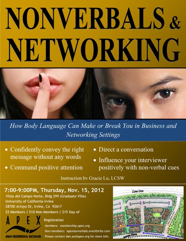 Nonverbals & Networking Flyer