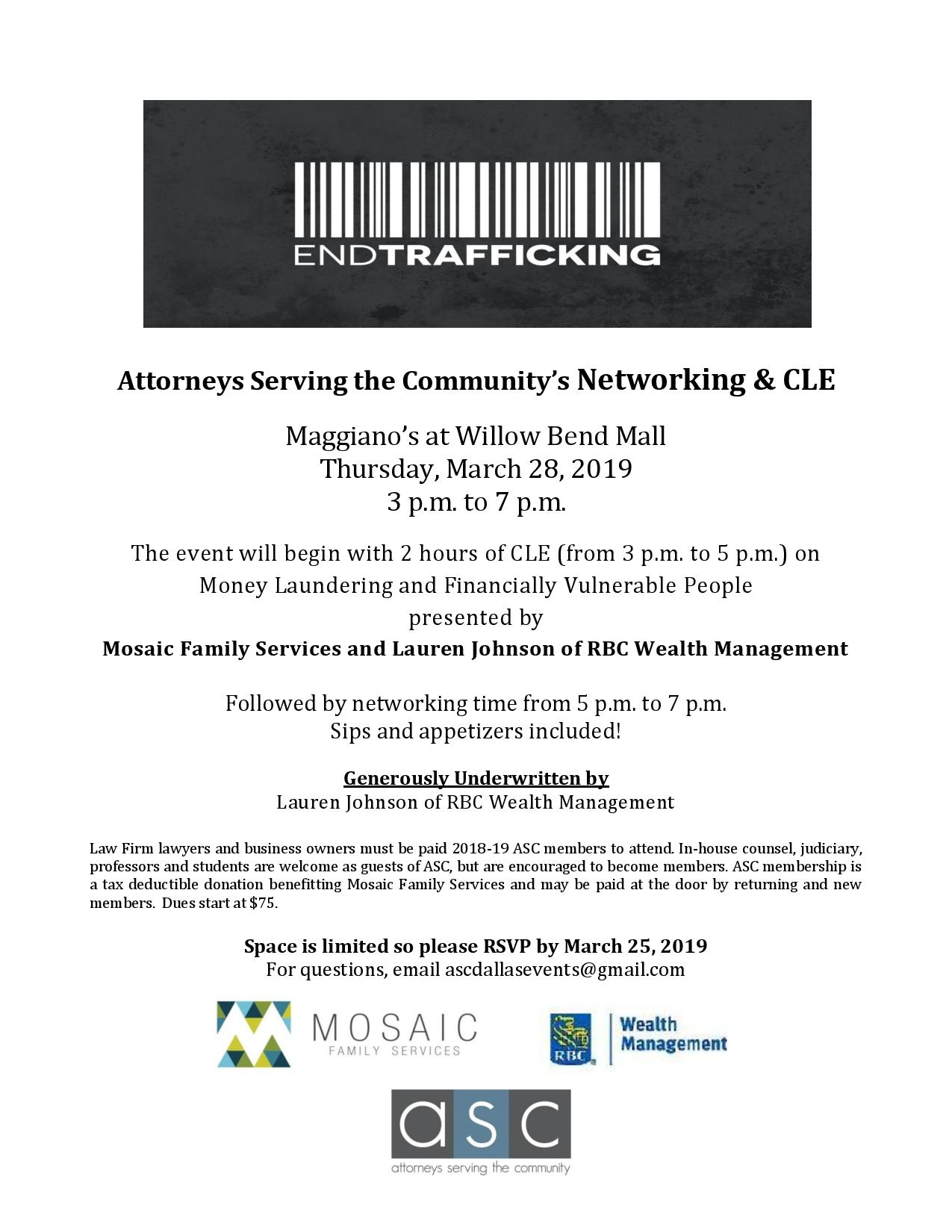 ASC March 2019 Networking CLE