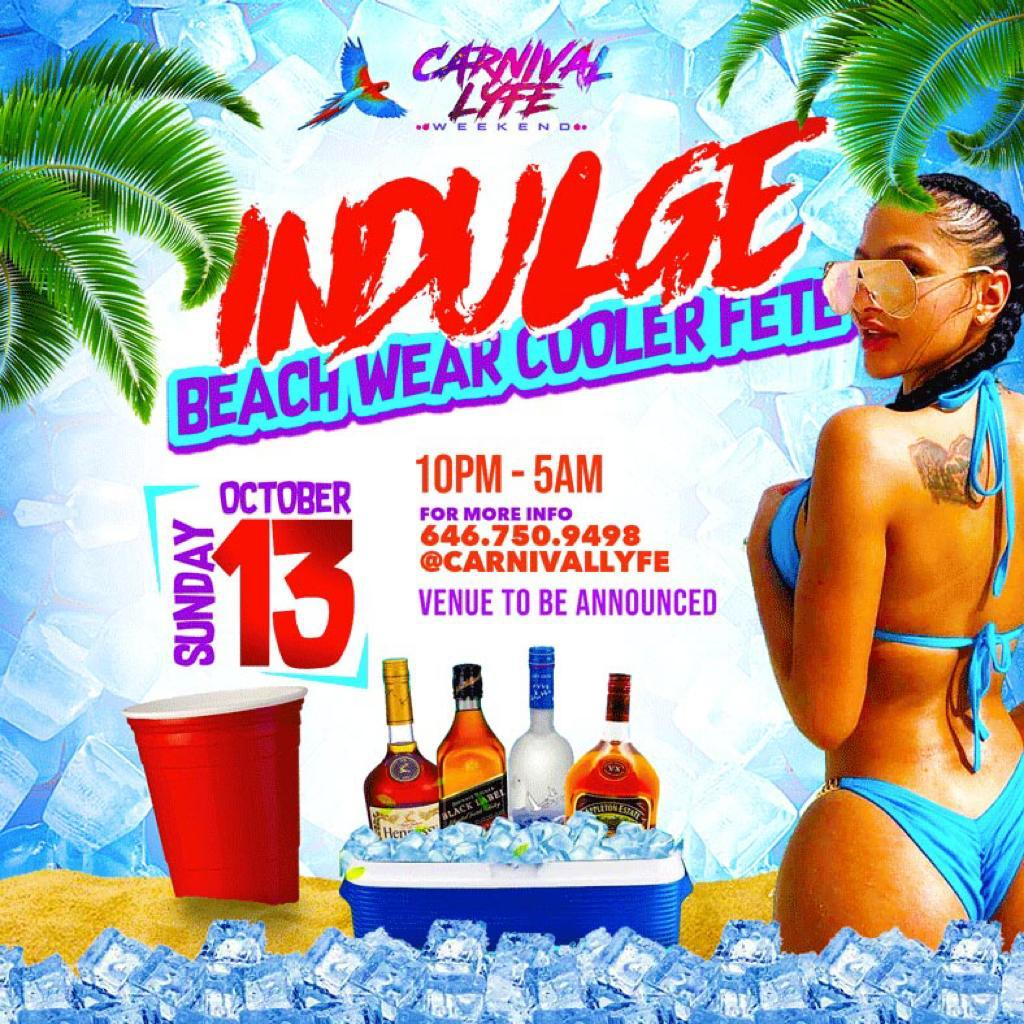 Indulge Beach Wear Cooler Fete Miami Carnival 2019 Edition