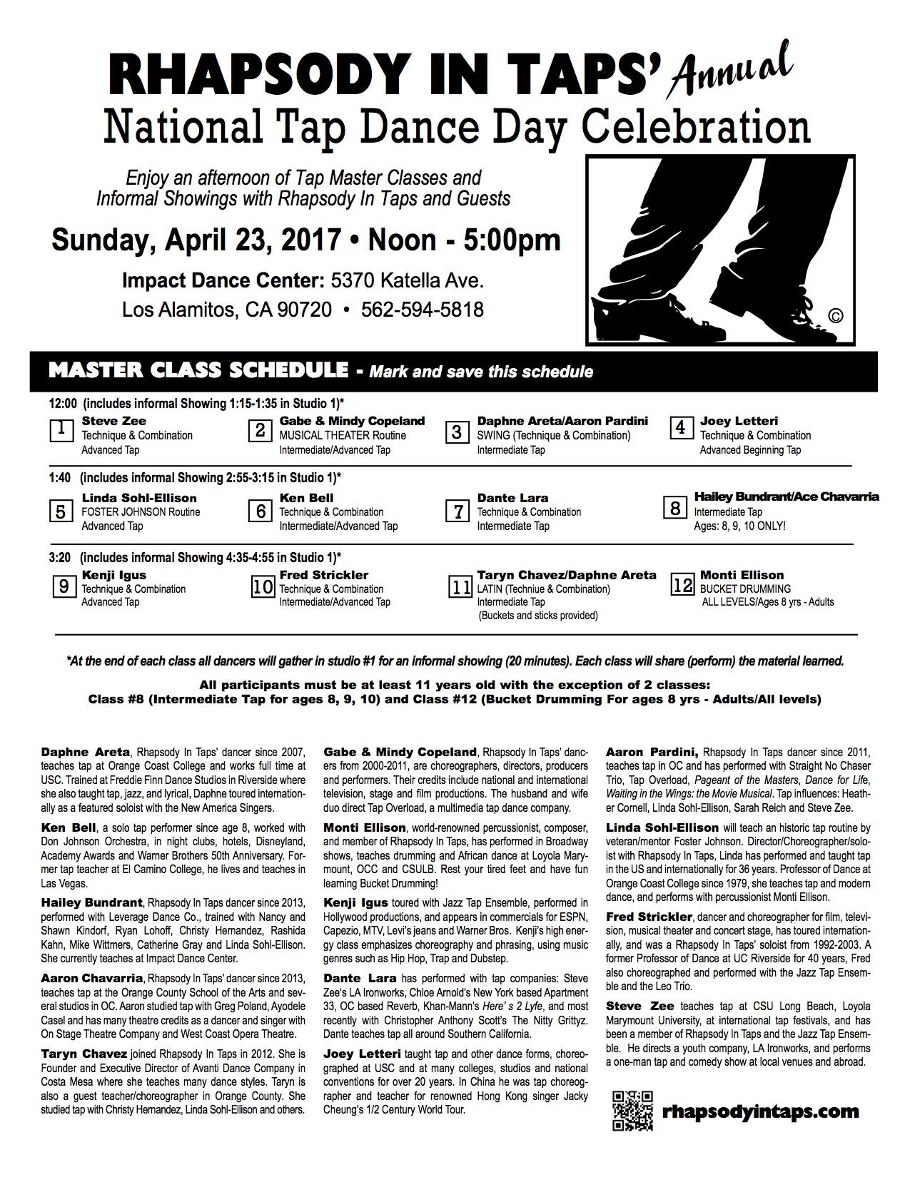 pg1 NTDay Schedule & Bios