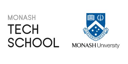 Monash Tech School & Uni logos
