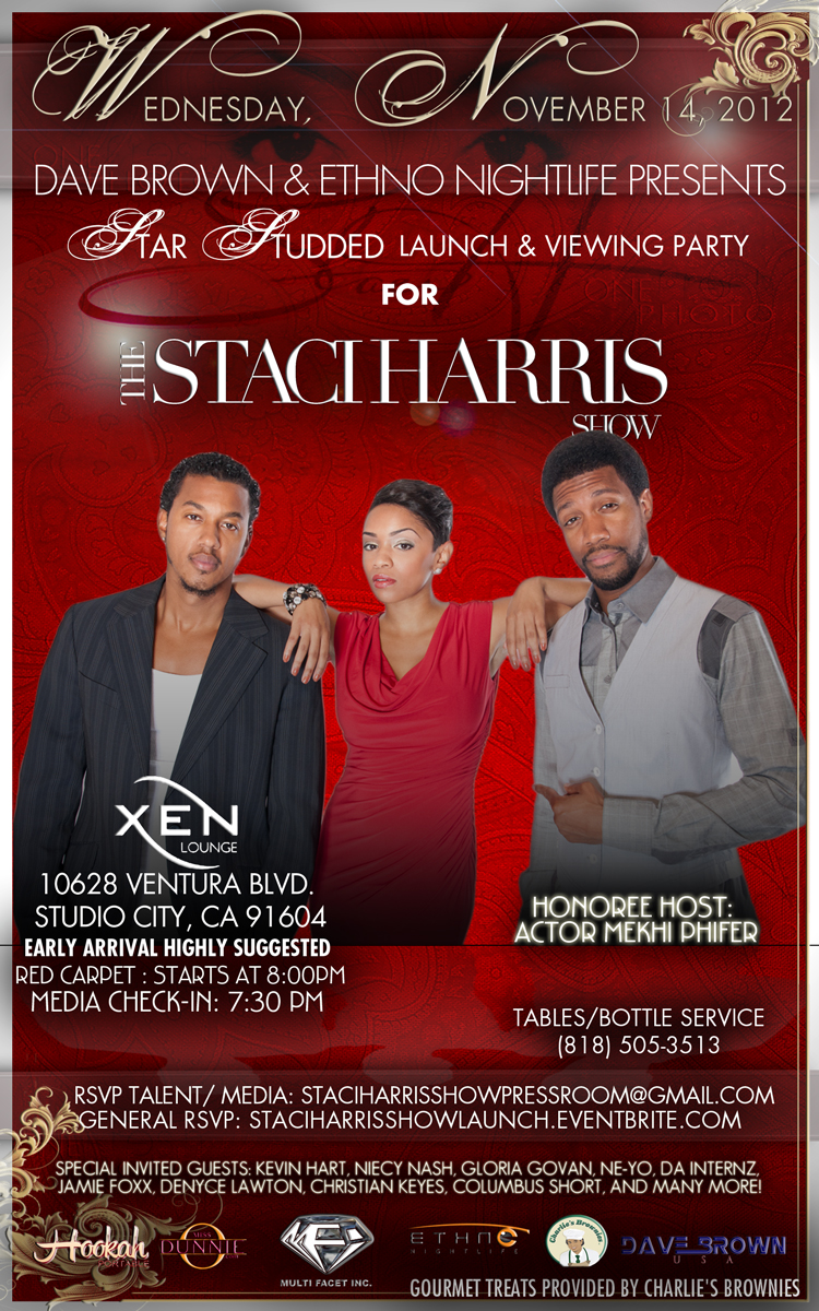 The Staci Harris Show Launch & Viewing Party - Flyer