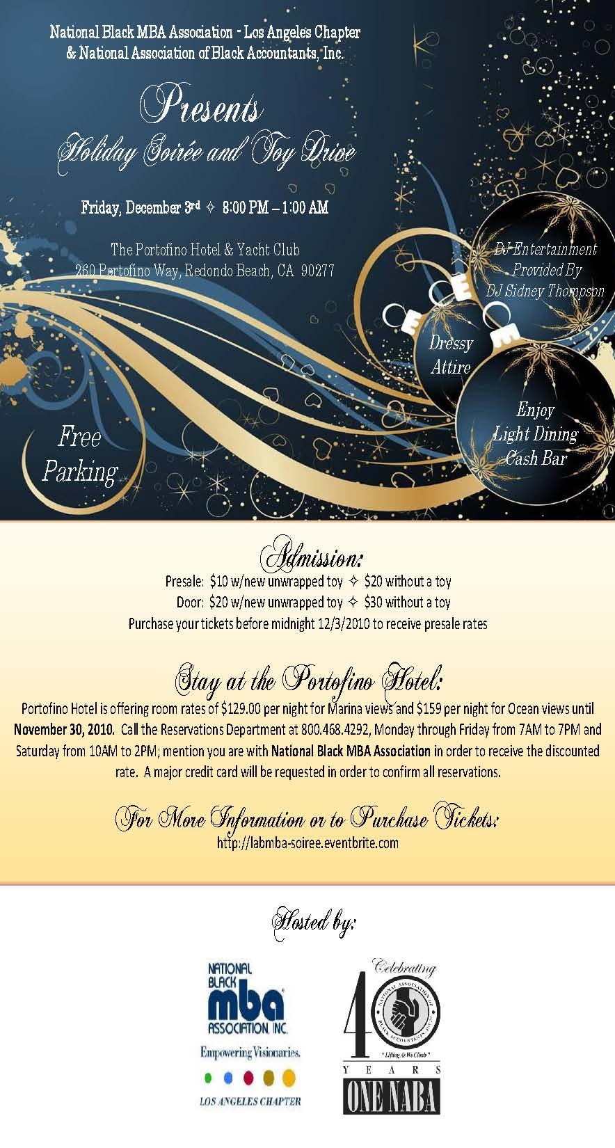Holiday Soiree December 3rd Portofino Hotel