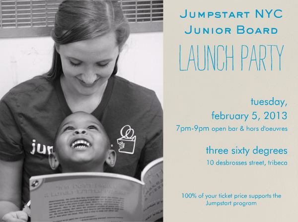 Jumpstart NYC Junior Board Launch Party Invitation