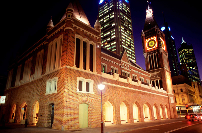 Perth Town Hall night shot
