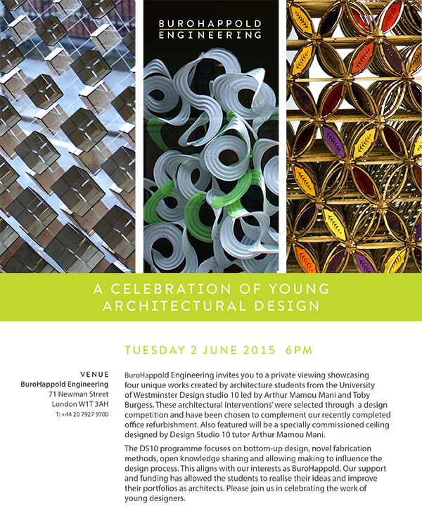 A Celebration of Young Architectural Design