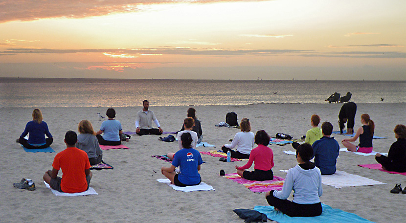 Sunrise Meditation, Miami Beach