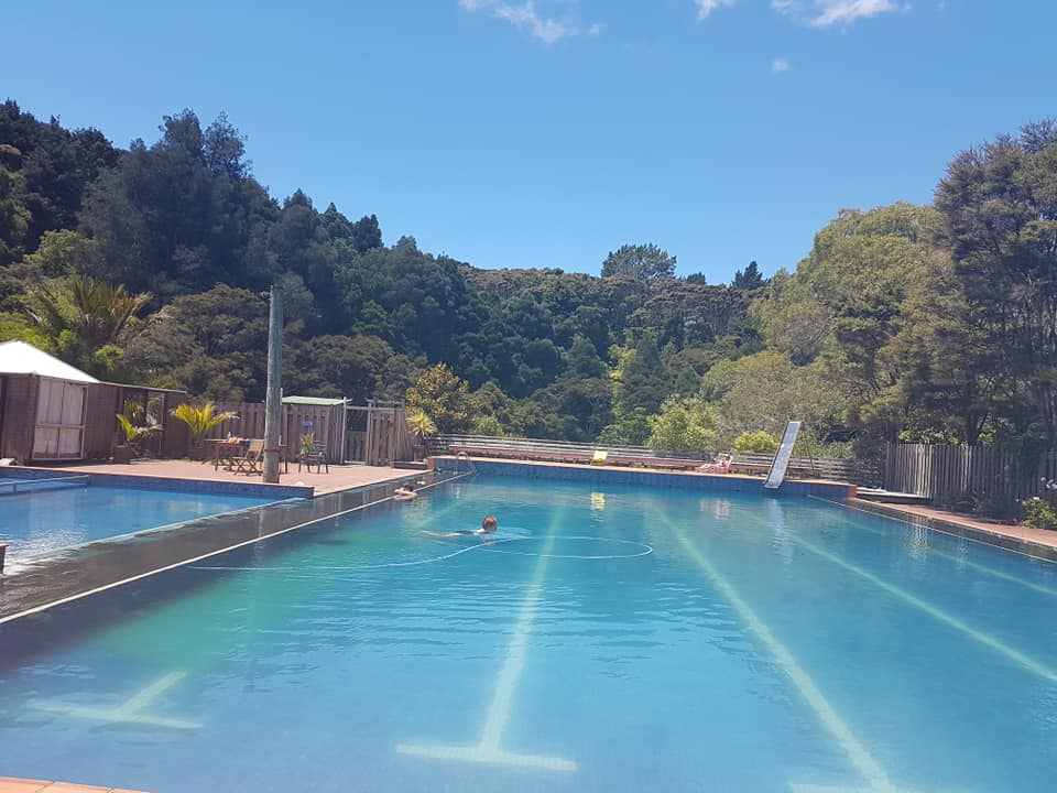 Swimming pool kawai purapura retreat