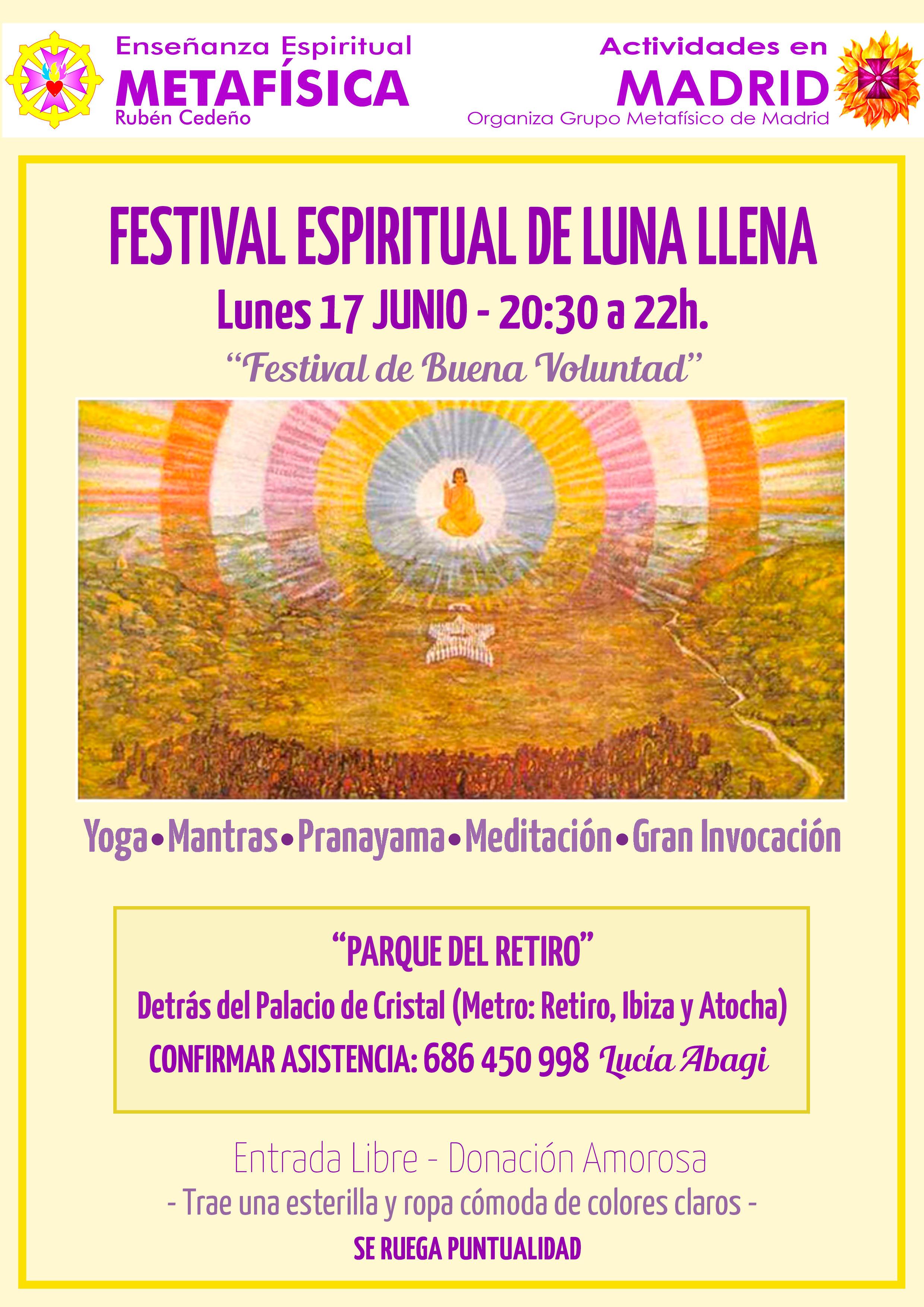 Festival Espiritual de Luna Llena en el Parque del Retiro (Madrid)