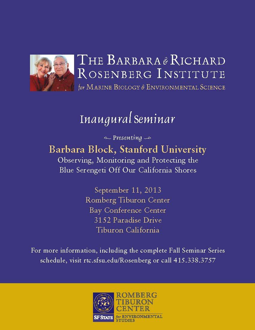 Rosenberg Institute Inaugural Seminar flyer