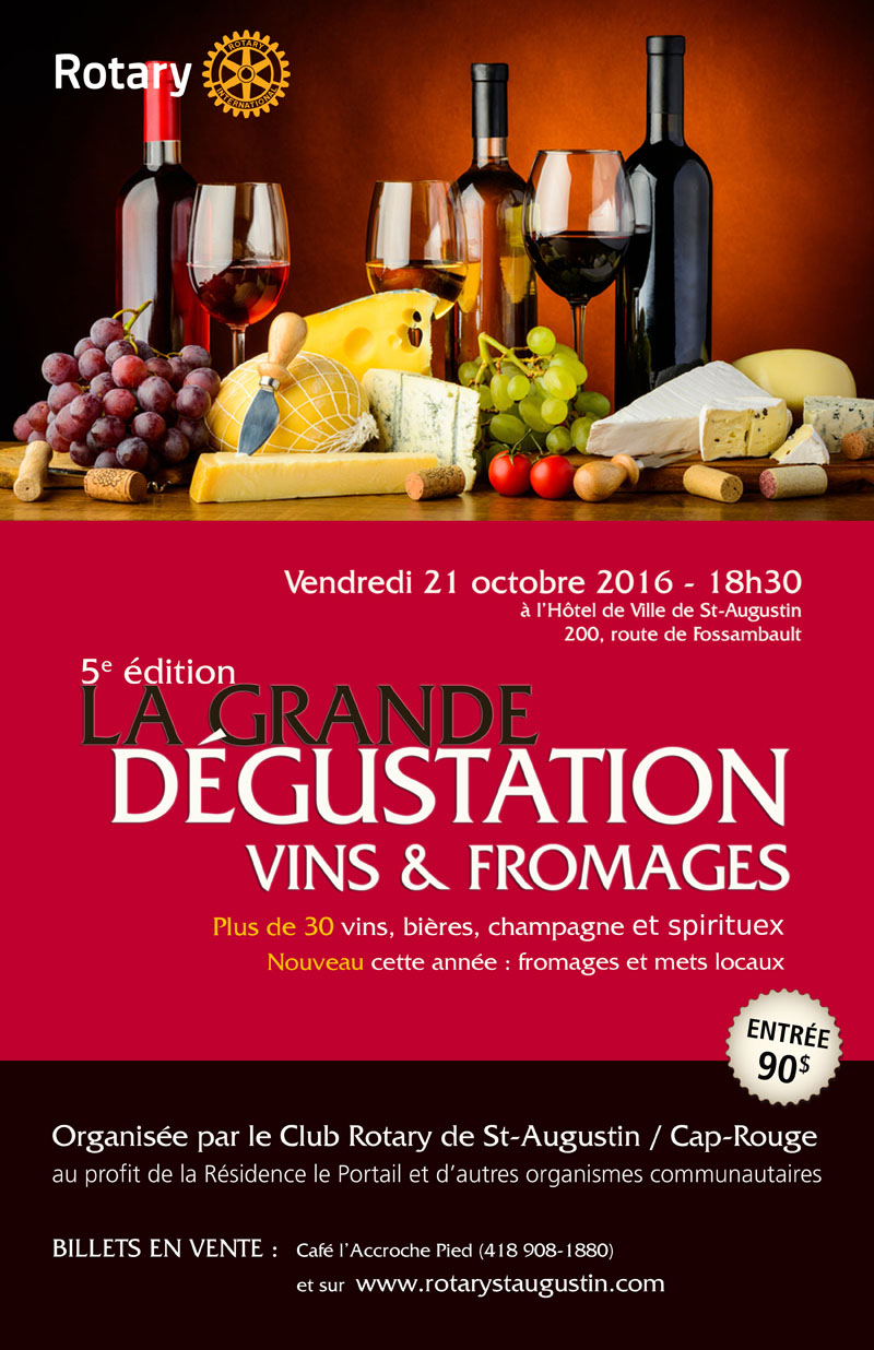 Dégustation  Vins & Fromages Rotary