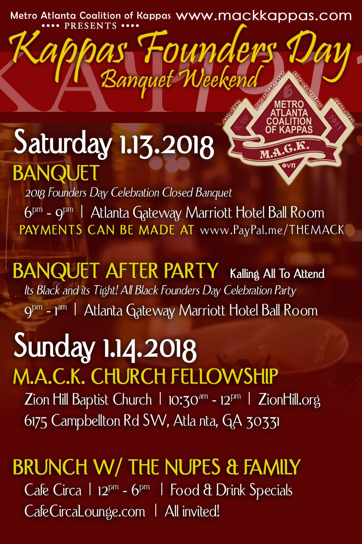 MACK Founders Day Weekend Flyer