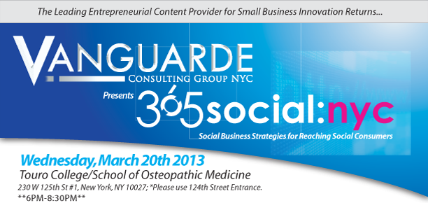 Vanguarde Consulting Group Presents 365Social:NYC