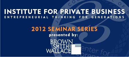 SLU's Institute for Private Business  - Fall Seminar Series...