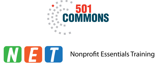 501 Commons & NET program logos