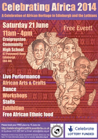 Celebrating Africa Event Flyer