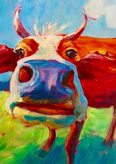 Moo Cow Adults Acrylic Painting Class Tickets Thu Apr 11 2019
