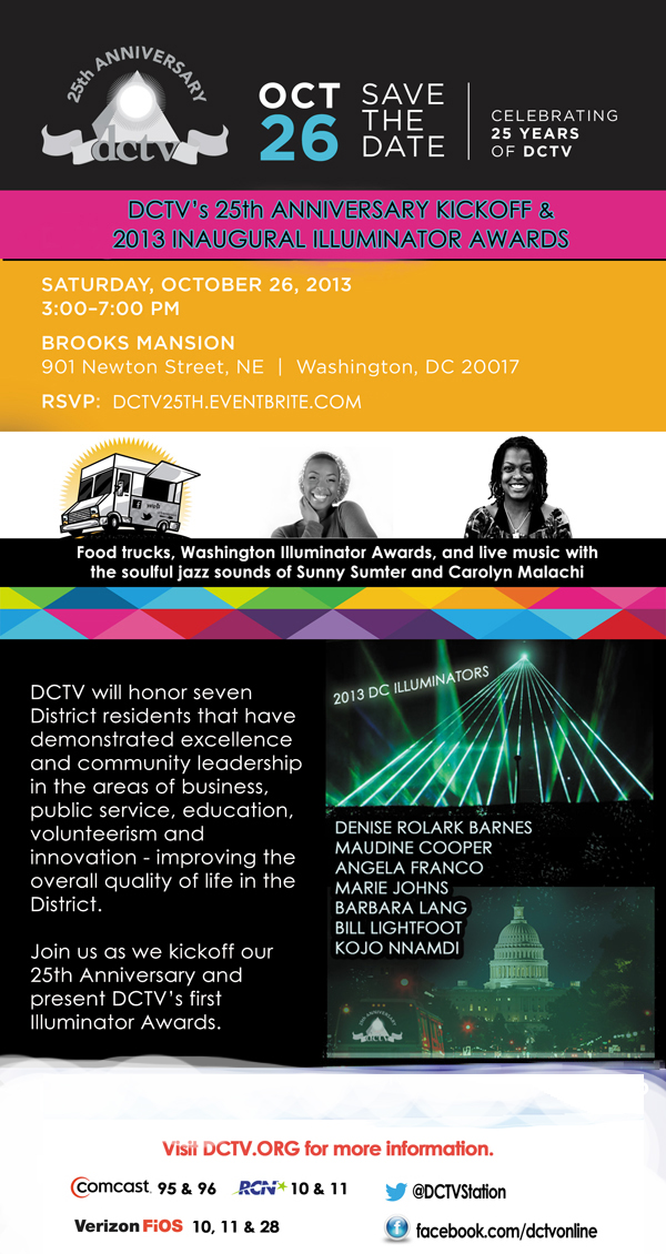 10/26 3-7P DCTV 25TH ANNIVERSARY KICKOFF