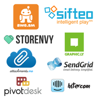 Attachments.me, awe.sm, Graphicly, Intercom, PivotDesk, SendGrid, Sifteo, Storenvy