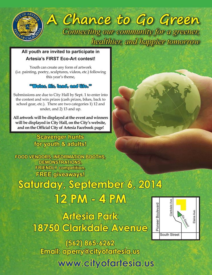 Artesia's A Chance to Go Green Flier