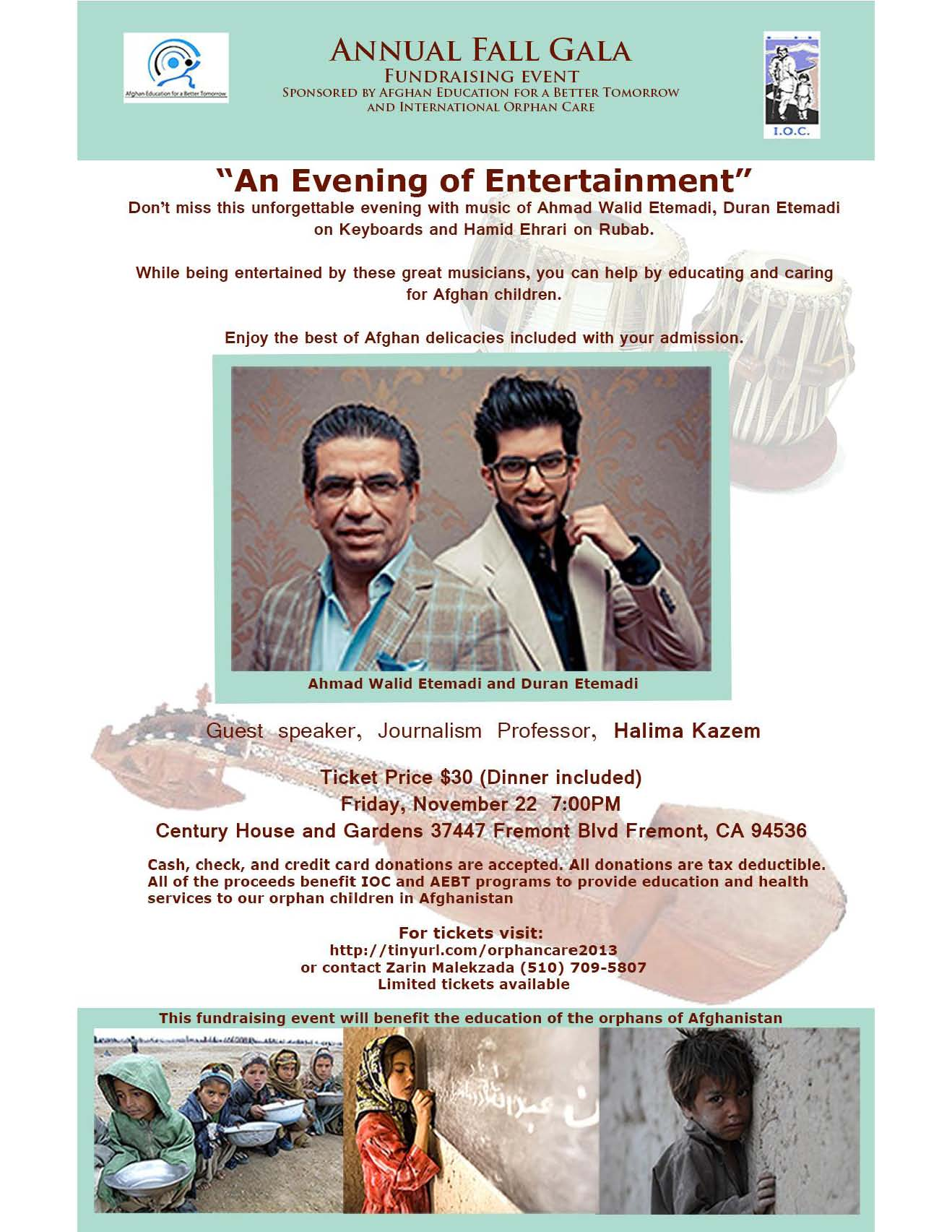 An Evening of Entertainment with Wahid Etemadi