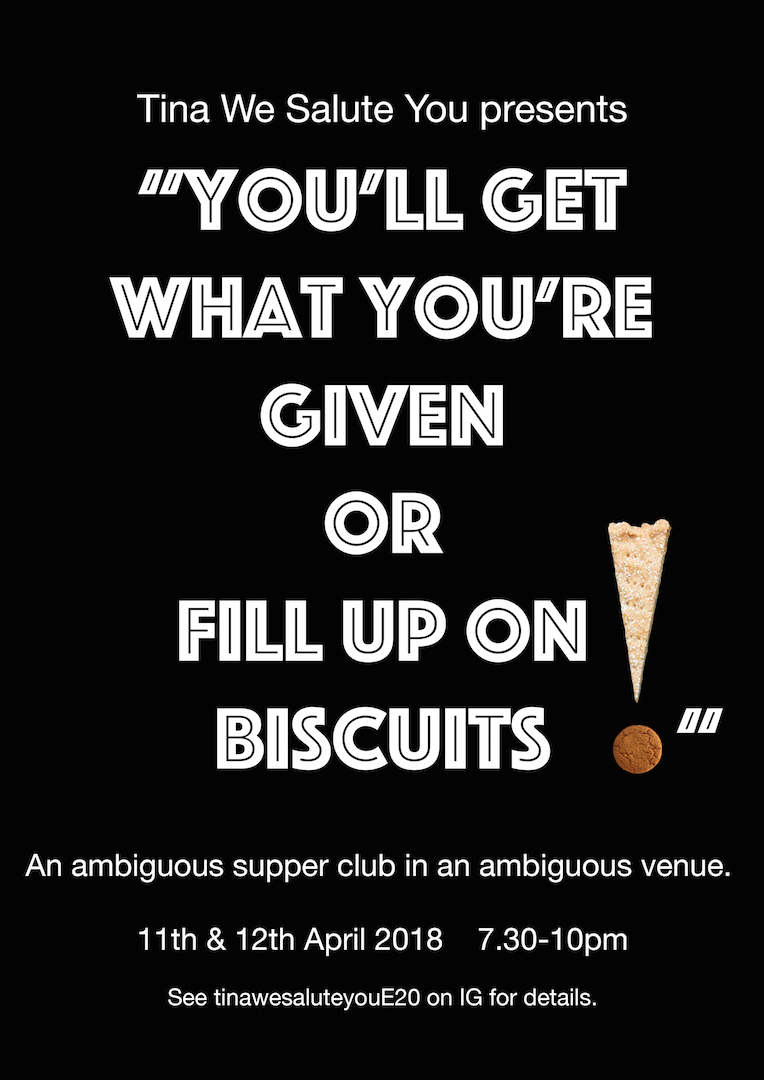 You'll Get What You're Given Or Fill Up On Biscuits