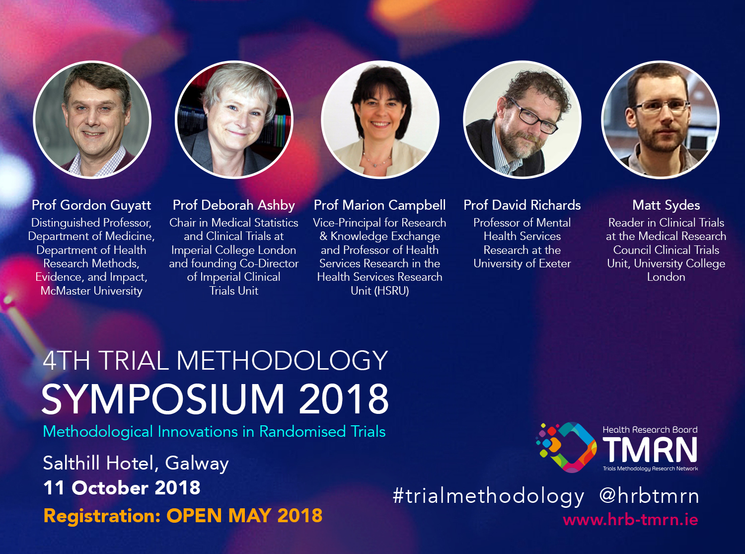 Speakers for the HRB-TMRN 4th Annual Trial Methodology Symposium