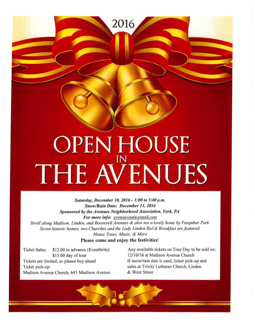 2016 Holiday Open House Flyer