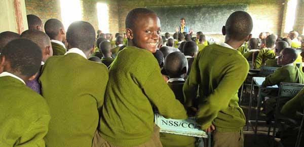 Malawian students in a classroom