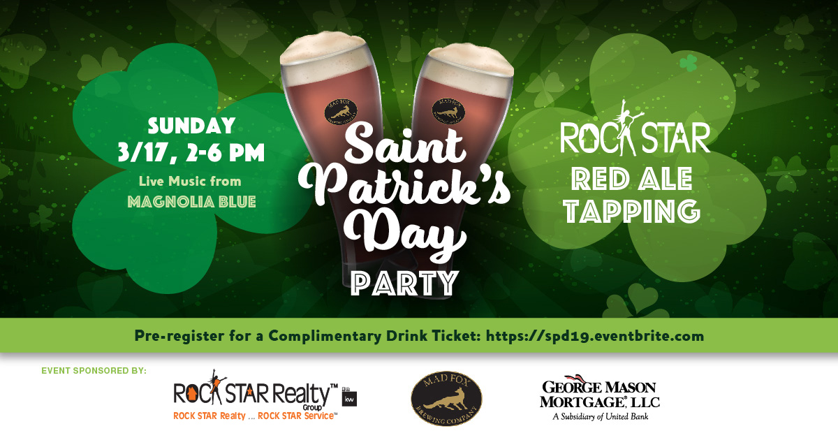 St. Paddy's Day Party & ROCK STAR Red Ale Tapping