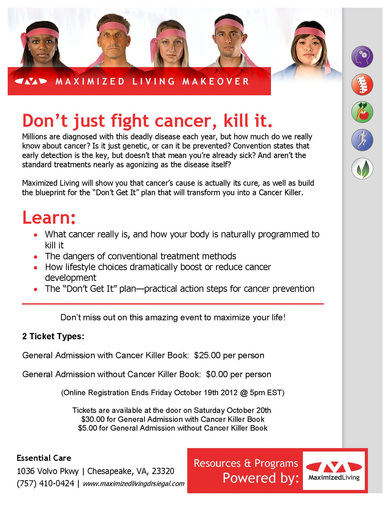 Cancer Killers Ticket Image
