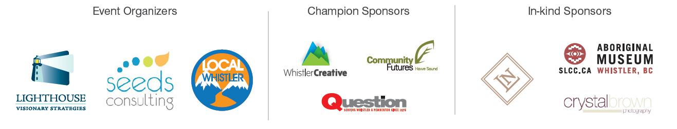 Whistler Open Forum Event Sponsors