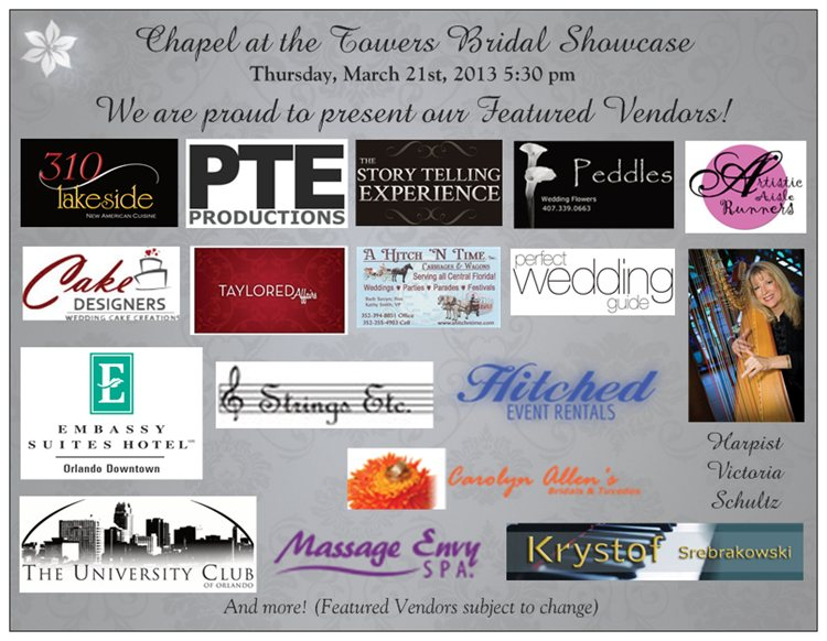 Chapel at the Towers Bridal Showcase Vendors