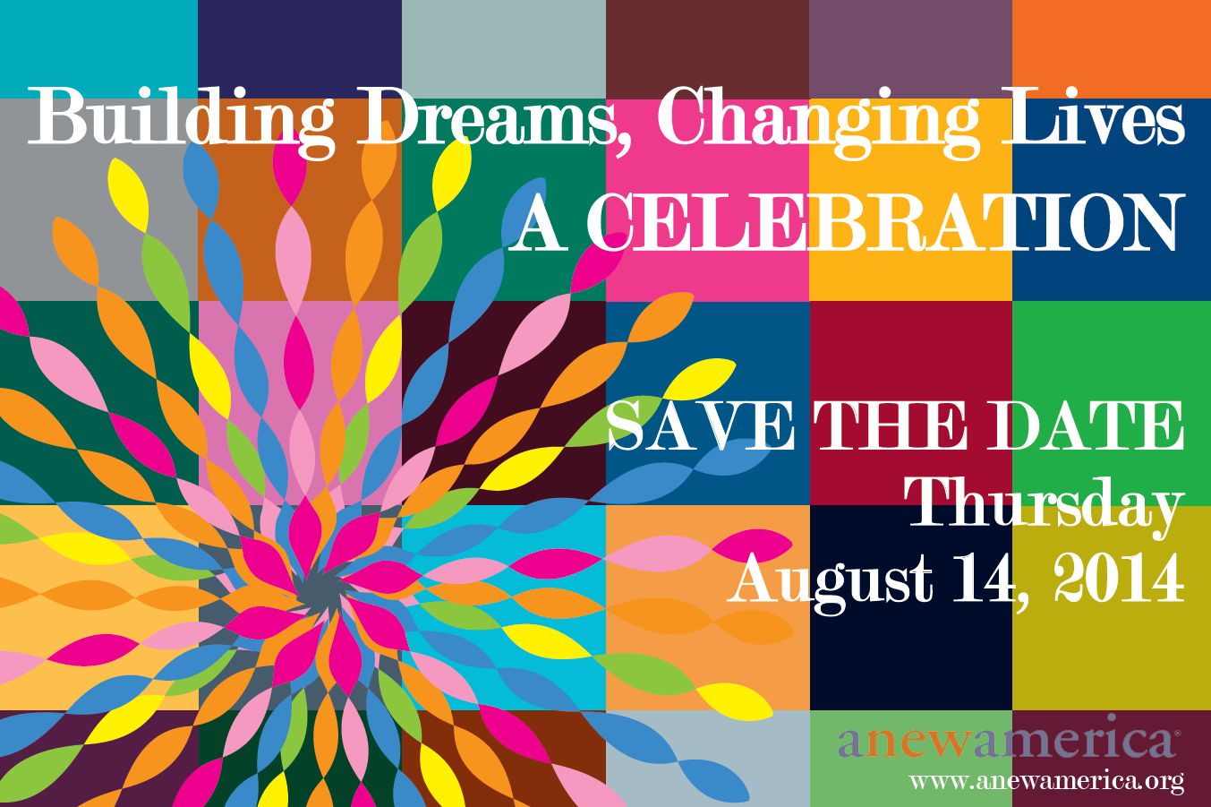 AnewAmerica Microbusiness Celebration August 14, 2014 Save the Date